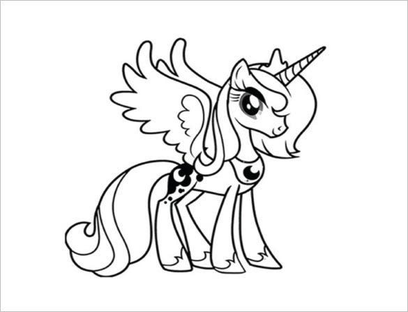 20 My Little Pony Coloring Pages Free Word PDF JPEG PNG Format