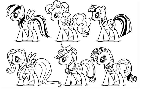 my little pony coloring pages pdf 18+ My Little Pony Coloring Pages   PDF, JPEG, PNG | Free  my little pony coloring pages pdf