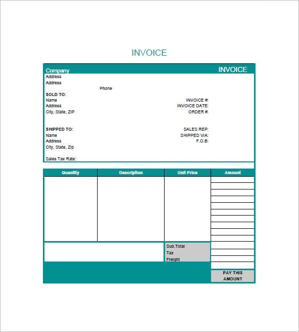 graphic design invoice template sample