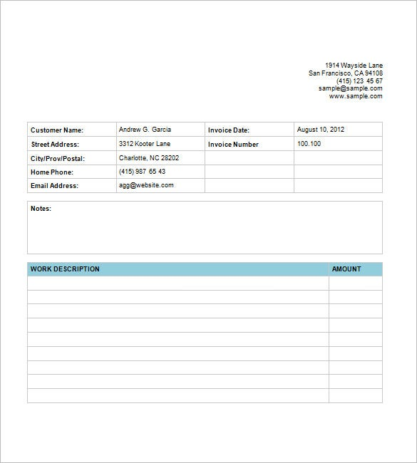 Graphic Design Invoice Template – 8+ Free Sample, Example, Format