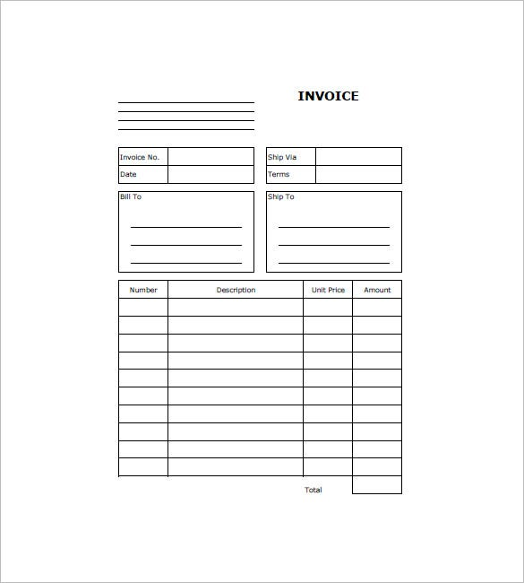 Web Design Invoice Template Free Download