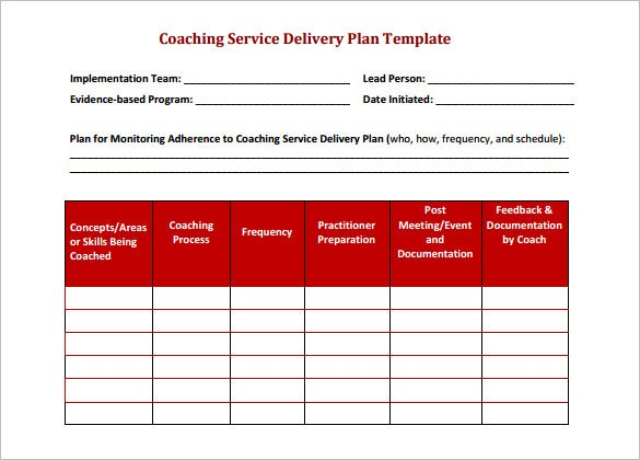 Delivery Schedule Template 9 Free Sample Example Format