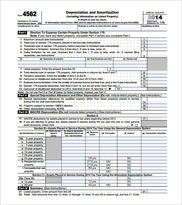 editable depreciation and amortization schedule form pdf