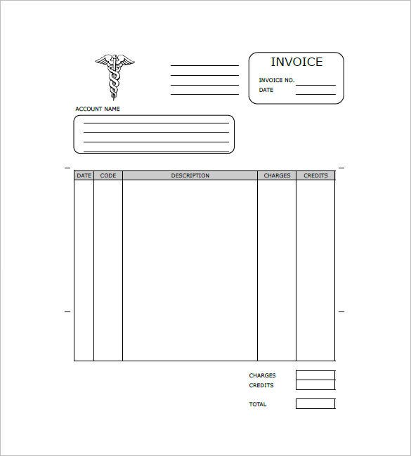 Sample Medical Invoice Form  Invoice Forms Free