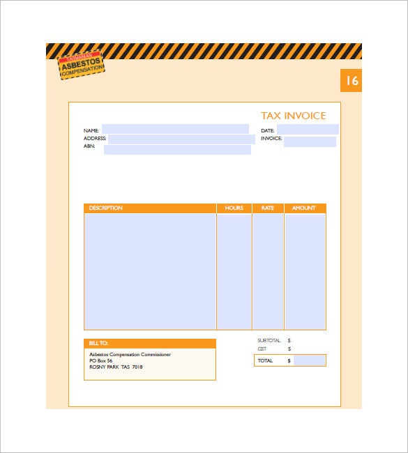 Medical Invoice Template   Free Word Excel Pdf Format Download