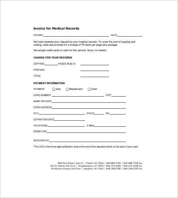Services Rendered Invoice Template Hardhostfo