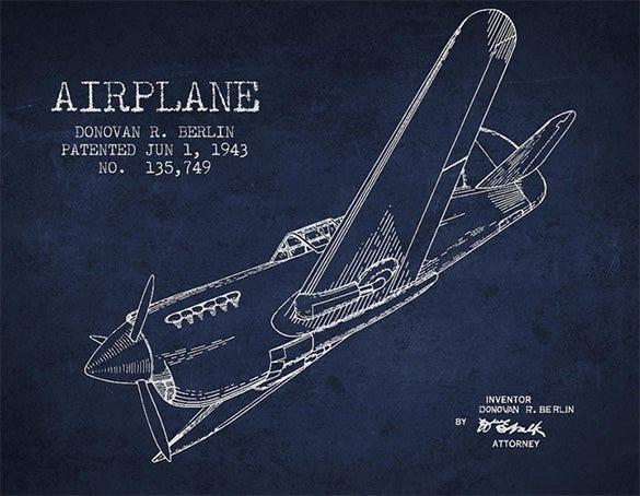 airplane patent drawing