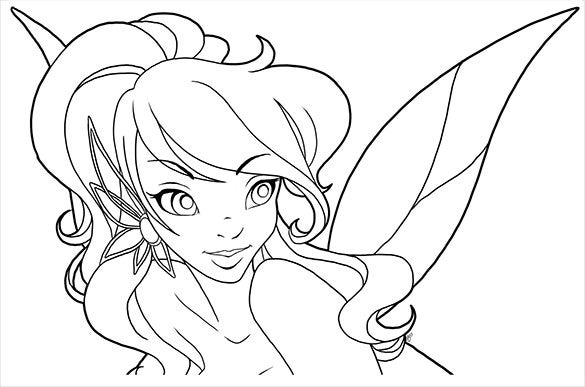 teen fairy coloring page