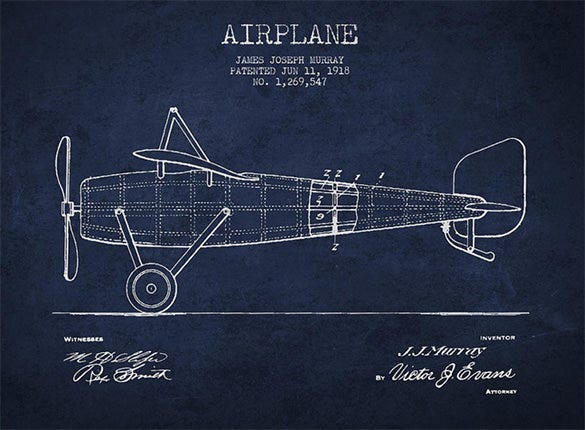 airplane patent drawing for you