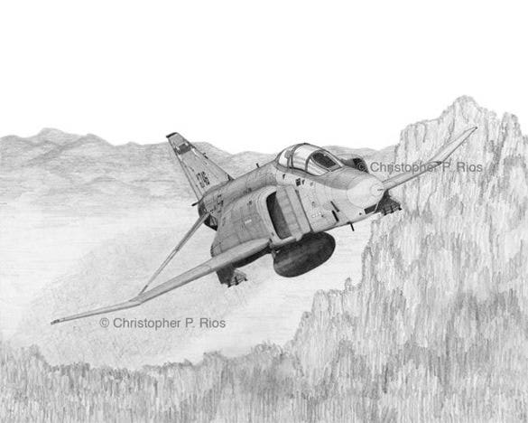 this beautiful and very life like drawing is of a fighter airplane flying over the mountains the sketch of the airplane resembles a real airplane to a