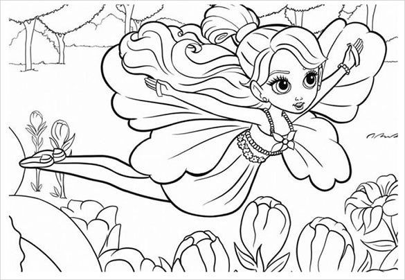flying fairy teen coloring page