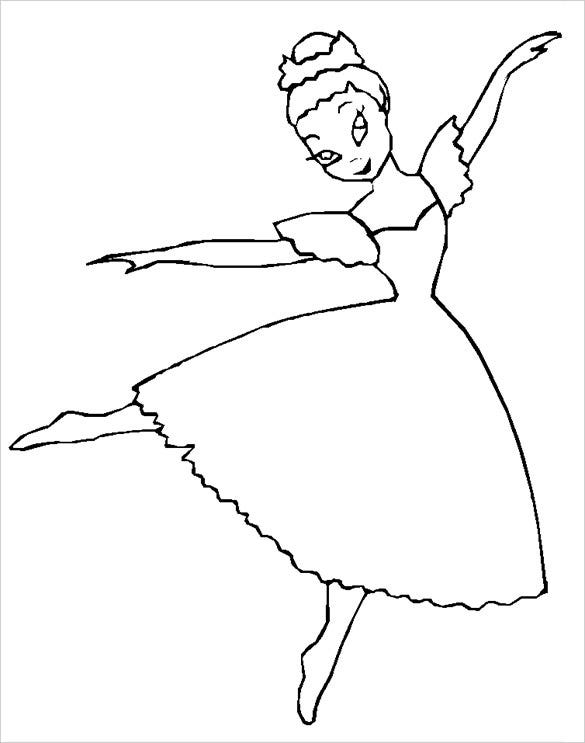 dancing teen coloring page