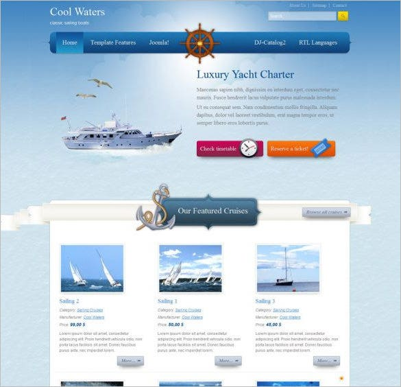 cool water joomla template for you