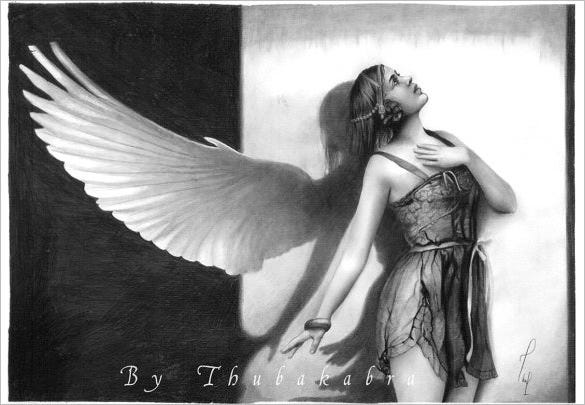fantasy angel wings art