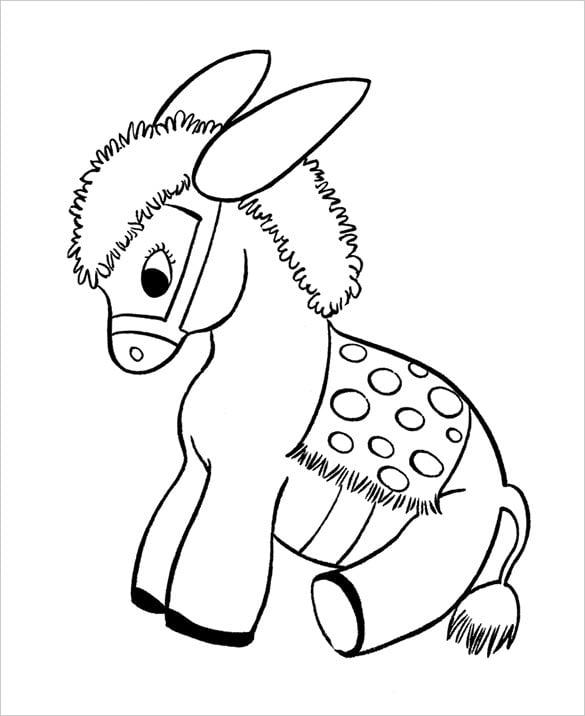 horse preschool coloring page