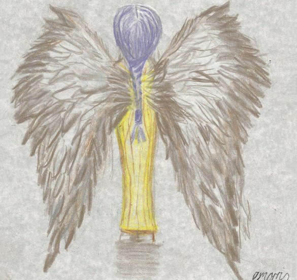 lilac angel wings drawing download