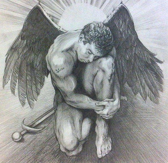 archangel michael wings drawing