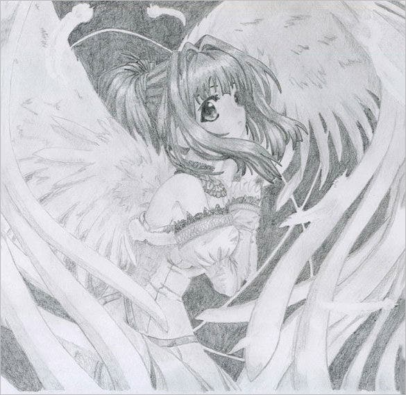 angel wings pencil drawing download