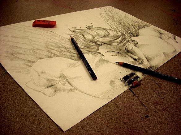 artists angel wings drawing download