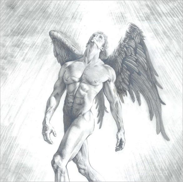 the calling of an angel wings drawing