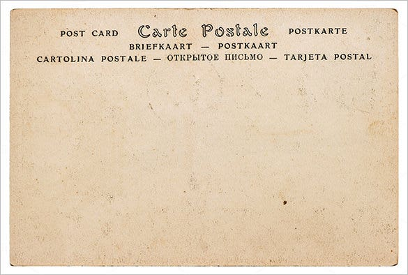 blank antique european postcard template download