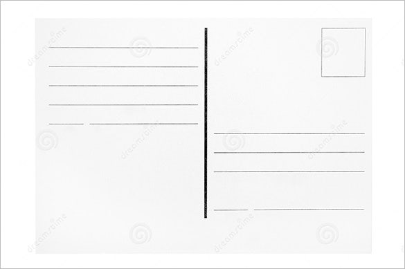 Good Download Blank Postcard Template Sample