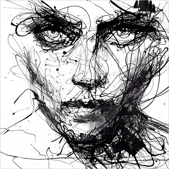 abstract woman face drawing for you