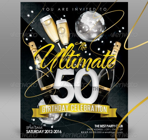 Download Birthday Invitation Template PSD Design