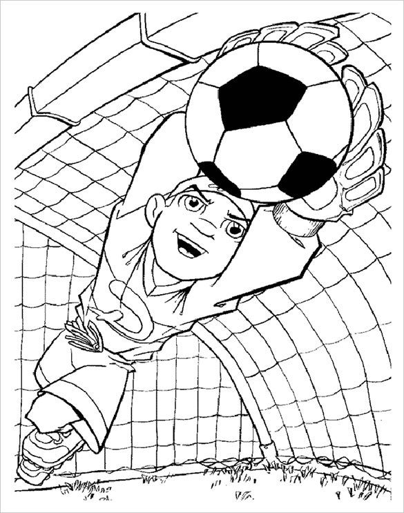 keeper footbal coloring page