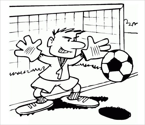keeper stopping football coloring page