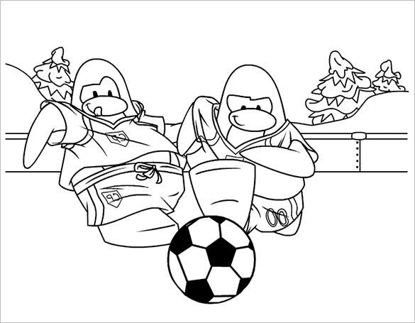anime footbal playing coloring page