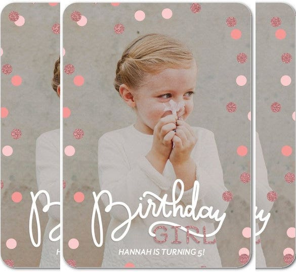 create soft pink birthday party invitation