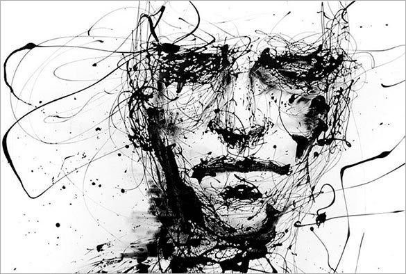 Abstract Face Line Drawing : Beautiful abstract drawings download free premium