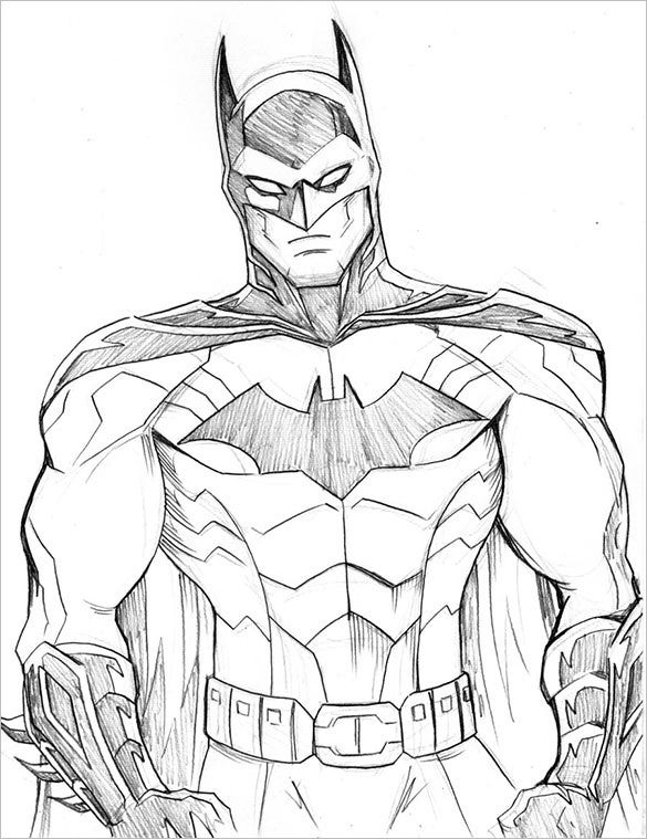 amazing batman sketch for download