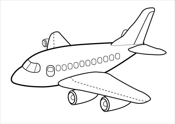18 Airplane Coloring Pages PDF