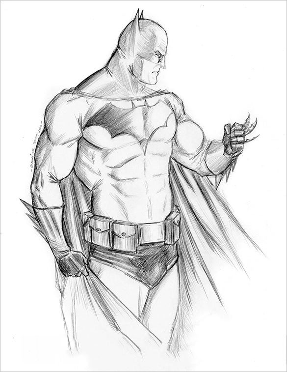 astonishing batman drawing for free