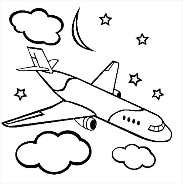 18+ Airplane Coloring Pages - PDF, JPG | Free & Premium ...
