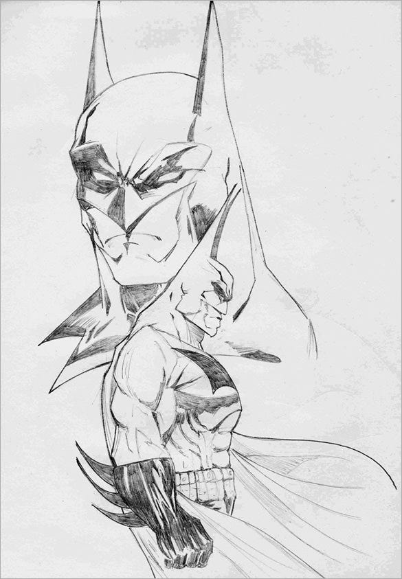 the best batman drawing download