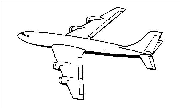 flying airplane coloring page