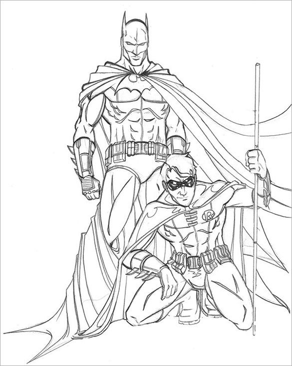batman and robin drawing for you