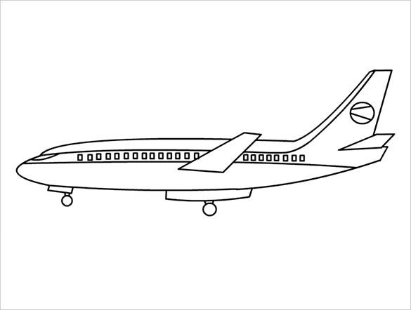 beautiful airplane coloring page