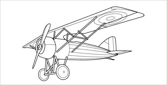 bi plane coloring pages - photo#7