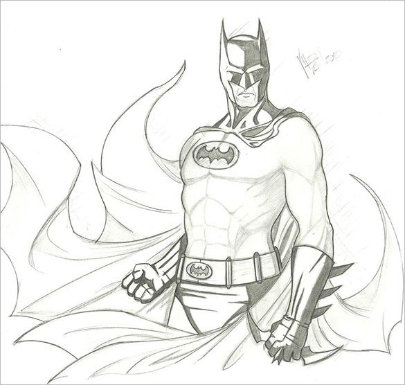 sketch of batman for free