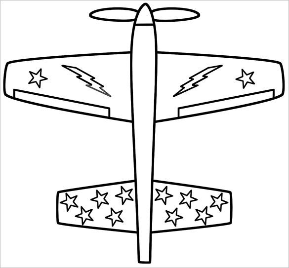 stylish airplane coloring page