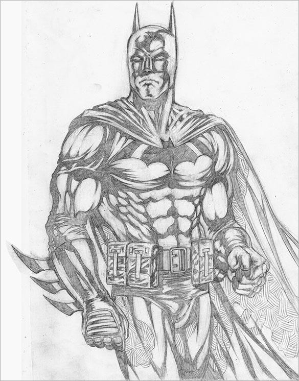 best pencil drawing of batman