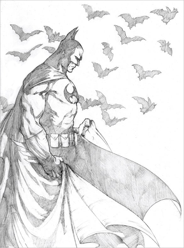 dynamic sketch of batman