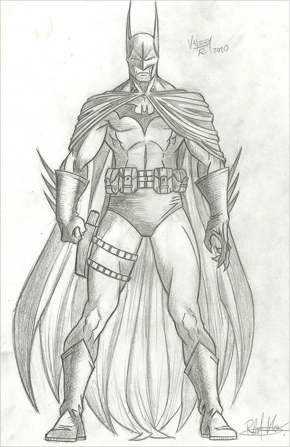 glorious batman drawing for download