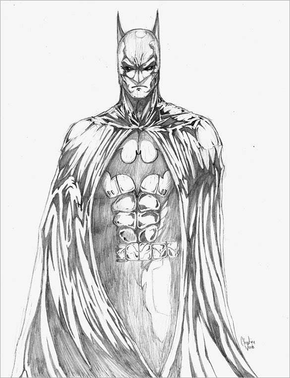 fantastic batman drawing for download