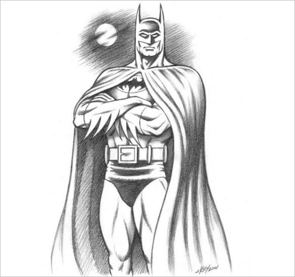 perfect batman drawing for free