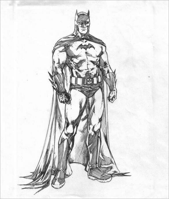 batman sketch for download